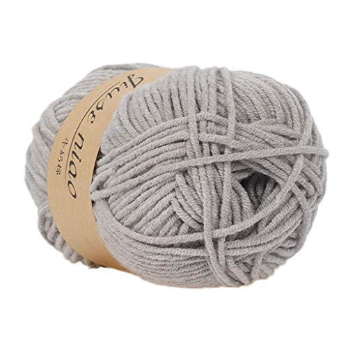 FeiliandaJJ 10 Farben 50g Wolle Zum Stricken & Häkeln,Hautpflege Kaschmir+Milchbaumwolle,Einfarbig Hand Strickgarn Strickwolle für Hüte Pullover Schal Decke Strickprojekt (I) -