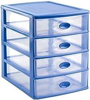 Plastic Forte Storage Unit With 4 Drawers Loira Azul