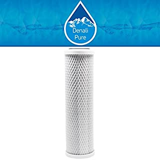 Replacement Aquios AQFS120 Activated Carbon Block Filter - Universal 10 inch Filter for Aquios AQFS120 Mini Water Softener and Filter System - Denali Pure Brand