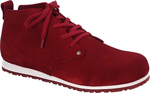 BIRKENSTOCK DUNDEE PLUS scarpe scarponcino polacchine plantare anatomico Red/Red
