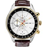 Timex E Class Chronograph White Dial Mens Watch T2N157