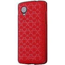 Cruzerlite Android Clone Funda Ejército para LG Nexus 5 - Rojo