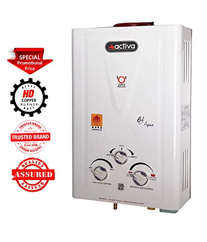 Activa Aqua LPG Instant Gas Water Heater with 100% Copper Tank (Ivory)