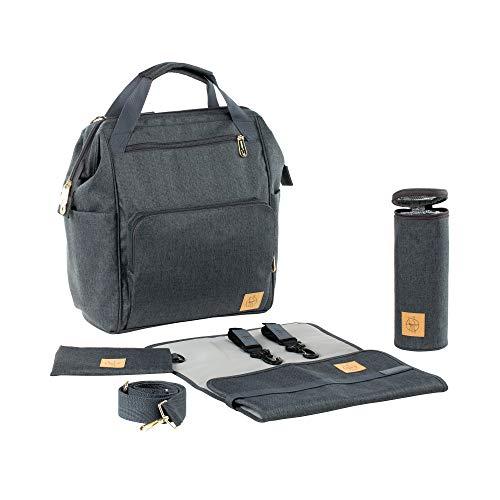 Lässig 1103010222 Wickelrucksack Glam Goldie Backpack, grau
