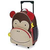 Trolley Skip Hop Zoo Scimmia Sono perfetti come bagaglio a mano per accompagnare il tuo bimbo nei suoi primi viaggi o per il fine settimana dai nonni. Caratteristiche Trolley Skip Hop Zoo Tasca anteriore per mettere le matite, lo spuntino, i ...