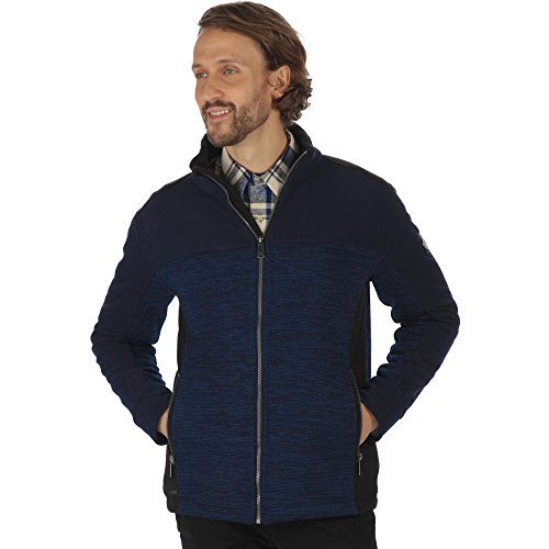 Regatta Mens Zendon Polyester Knit Effect Zip Pocket Fleece Jacket (Jacket Knit Zip)