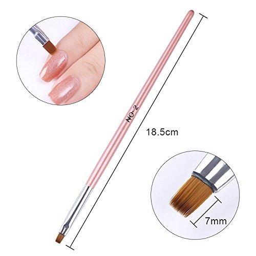 coulorbuttons 1Pink Griff Flach Zeichnen Pinsel Puder Staub reinigen Pen Nail Edge Nagelhaut Reinigung Nail Art Werkzeug