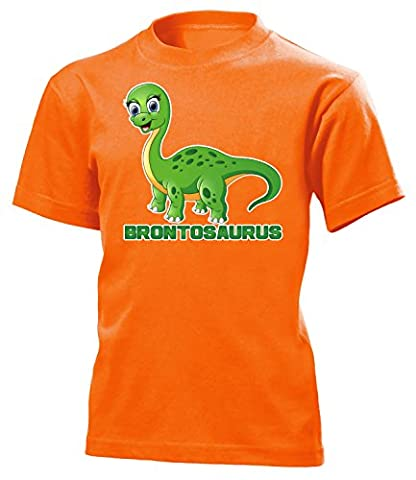DINOSAURIER - BRONTOSAURUS 5188(K-ORA) Gr. 116 (Orange Triceratops Kostüm)
