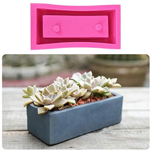 Lucky-all star Blumentopf Silikon Form klar Wasser Beton Zement Blumentopf Hitzebeständig Wiederverwendbar Silikon Form Rechteckig Blumentopf Silikon Form