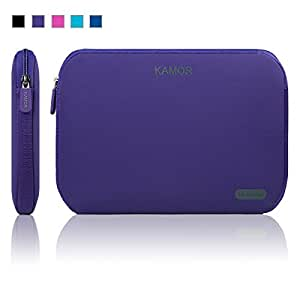 Kamor® 11 11.6 11.6 inch Water-resistant Neoprene Laptop Sleeve Case Bag / Notebook Computer Case / Briefcase Carrying Bag / Ultrabook Laptop Bag Case / Netbook Case / Pouch Cover / Skin Cover with 5.5mm thickness for Acer / Asus / Dell / Fujitsu / Lenovo / HP / Samsung / Sony / Toshiba, suitable for Acer C720 Chromebook / Asus X205TA / ASUS Q200E / Dell Latitude 2120 / HP Stream 11 Laptop / HP Pavilion X2 / Samsung Chromebook XE303, especially for teens /men /women /ladies /girls design (Purple)