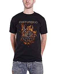 Disturbed T Shirt Immortalized Burning Belief Band Logo Official Mens Black