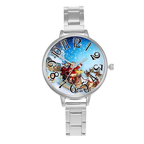 Xuthuly Frauen Arbeiten Klassische Quarz-analoge Handgelenk-kleine Vorwahlknopf-empfindliche Uhr-Luxusuhren Weihnachten um