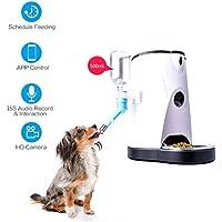 Feeder Dispensador Automático De Comida para Perros Y Gatos Caractéristiques Alarmas De Distribución Webcam Y Grabadora