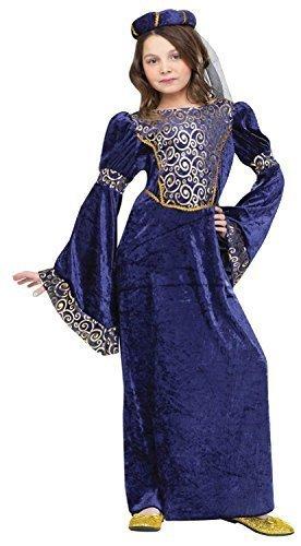 Renaissance Maiden Kind Kostüm - Fancy Me Mädchen blau Renaissance mittelalterlich