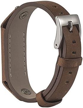 Für Fitbit Flex 2 Ersatzarmband, Rosa Schleife Fitbit Zubehör Classic Weiche Leder Metall Schließe UhrArmband...