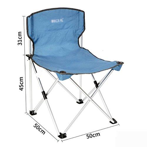 camping klappstuhl Leichte, langlebige Outdoor-Sitz - Perfekt für Camping, Festivals, Garten, Caravan Trips, Angeln, Strand, BBQs ( Farbe : Blau )