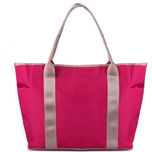 , Fashion Mumienschlafsack Kapazität Multifunktions Schwangere Frauen Einkaufstasche Handtasche Baby Windel Windel Wickeltasche Tote Taschen Mei red