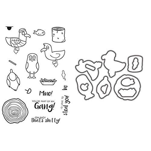 hgfcdd 1 Satz Stanzformen + Silikondichtungen Stumpf Vögel DIY Scrapbooking Präge Fotoalbum Dekorative Papier Karte Handwerk Kunst Handgemachtes Geschenk
