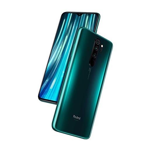 Xiaomi Redmi Note 8 Pro Smartphone (16,59cm (6,53 Zoll) FHD+ Display, 64GB interner Speicher + 6GB RAM, 64MP Vierfach-KI-Rückkamera, 20MP Selfie-Frontkamera, Dual-SIM, Android 9) Forest Green (Grün)