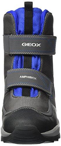 Geox J Orizont Abx F, Bottes de Neige Mixte Adulte Gris (Grey/royal)