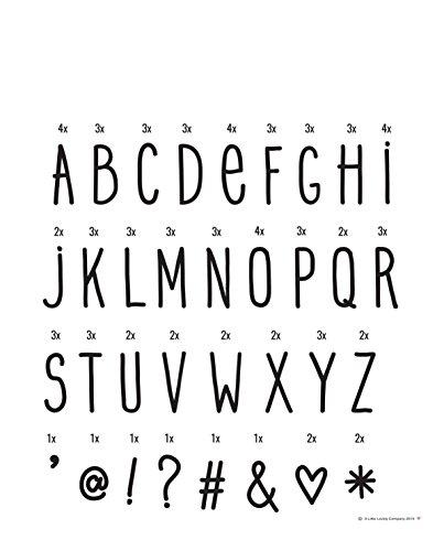 Lampe à poser - Set de Lettres Manuscrites pour Lightbox