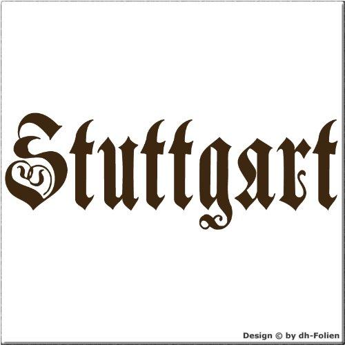 cartattoo4you AK-01646 | STUTTGART - Fraktur / Altdeutsche Schrift | Autoaufkleber Aufkleber FARBE...