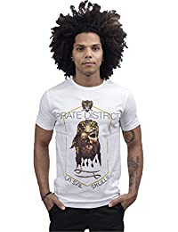 LA SAL Camiseta Águila - T-Shirt Wanted God Bless Blanco Style nDFFsu5
