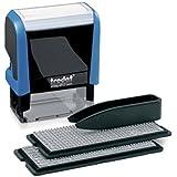Trodat 4912 88564 - Accesorios para perzonalizar sellos (imprentilla de 3 y 4 mm, 4 líneas)