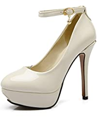 1TO9 señoras hebilla high-Heels banquete de goma pumps-shoes