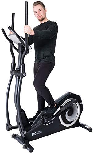 Miweba Sports Crosstrainer MC400 Stepper Ellipsentrainer Heimtrainer - Streaming App - 27 Kg Schwungmasse - Magnetbremse - Pulsmessung