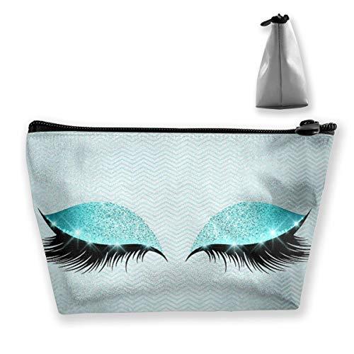 Printed Soft Cotton Tiffany Cats Eye Lashes Glitter Makeup Lumbar Tixing Kosmetiktasche Reise Kosmetiktaschen Etui Stift