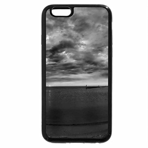 iPhone 6S Case, iPhone 6 Case (Black & White) - wonderful beach sunset