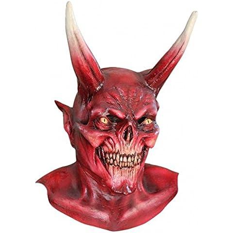 Máscara de demonio diablo rojo Deluxe grande adulto