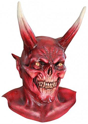 (Erwachsenen große Deluxe rote Teufel Dämon Maske)