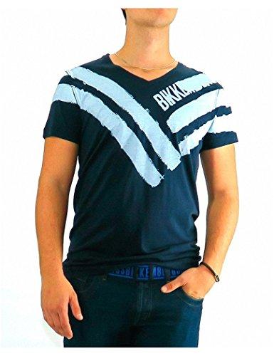 bikkembergs-tshirt-dirk-bikkembergs-five-stripes-2xl-blu