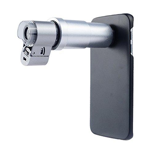 Apexel 60x Schmuck Mini Mikroskop Objektiv mit LED/UV-Licht und Back Schutzhülle für Samsung Galaxy S6Edge, 200x -