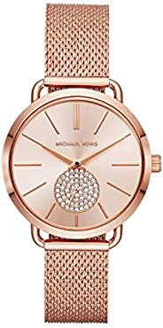 Michael Kors Women's Portia Watch- Three hand quartz movement wrist watch with second hand sub