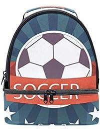 Alinlo - Bolsa térmica con diseño de balón de fútbol, ...