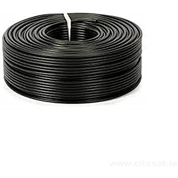 aerials satellites and cables ltd rg6 50 m digital amazon co uk rh amazon co uk electrical wiring black white red Black to Red White Black Wiring