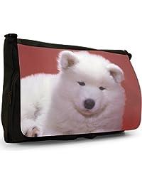 Dogs Black Large Messenger School Bag