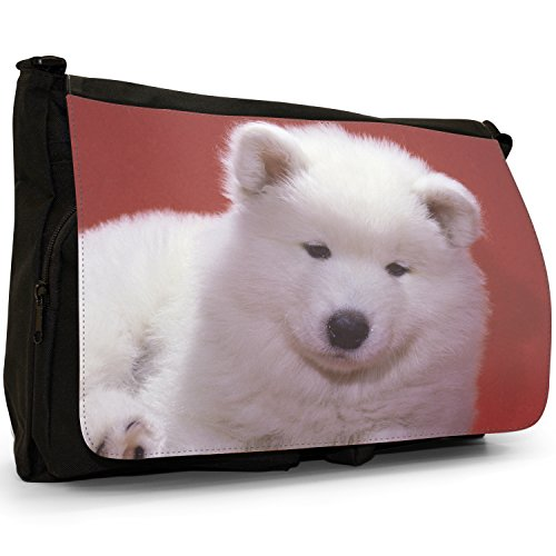 Fancy A Bag Borsa Messenger nero Samoyed Dog Samoyed Dog