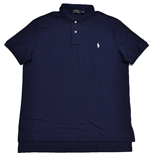 Polo Ralph Lauren Männer M Fit Interlock-Polo-Hemd-Flüssig (Small, Französische Marine)
