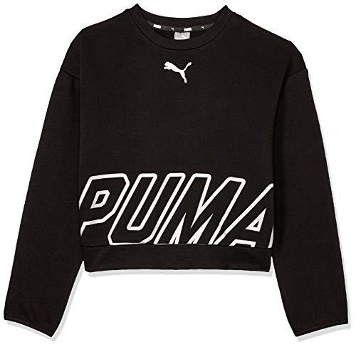 PUMA PUMA Mädchen Alpha Crew Sweat TR G Sweatshirt Alpha Crew Sweat TR G, Schwarz (Cotton Black), 12 Years (Herstellergröße: 11-12 Years)