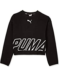 Puma Alpha Crew Sweat TR G Sudadera, Niñas, Negro (Cotton Black),