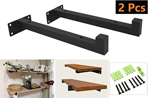 Ouvin - Soporte de pared para estantes de hierro forjado rústico, flotante,...
