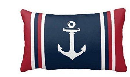 Kissen Maritim Rot - acelive dekorativer Überwurf-Kissenbezug Kissen Fall Navy