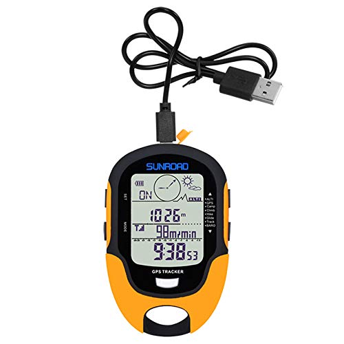 CUHAWUDBA Sunroad GPS-Tracker Locator Finder Navigation Handheld USB wiederaufladbar Digital Höhenmesser Barometer GPS Uhren