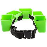 DAM Cinturón de entrenamiento para nadar Mad Wave Break Belt, negro/verde