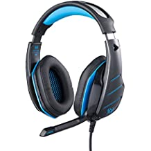 Kotion Each GS800 Over Ear Gaming Headphones With Mic And LED (Black/Blue)