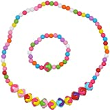 Girls necklace multicolor/baby necklace multicolor with free bracelet/gift/return gift/baby/girls fashion jewellery